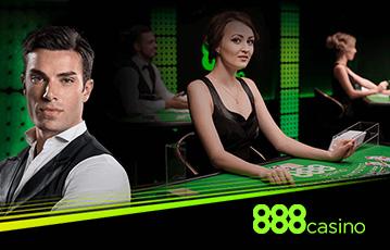 888Casino ライブカジノでライブディーラーとテーブルゲームをプレイ