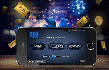 888Poker ポーカーゲームをスマホ・モバイル機器でプレイ