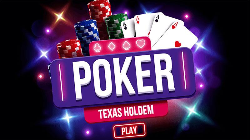 ポーカー テキサスホールデムをプレイ