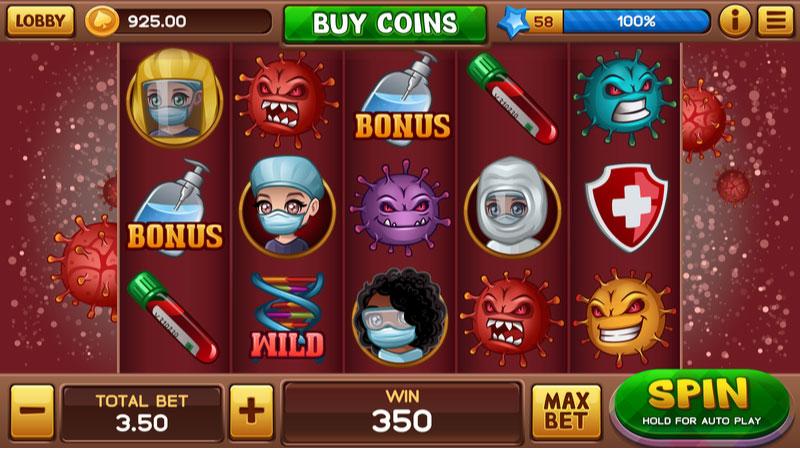 コロナテーマのオンラインカジノスロットゲーム