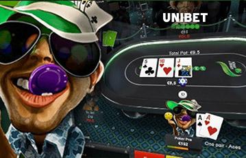 Unibet ポーカーテーブル