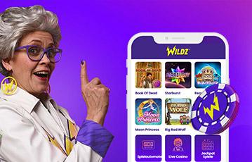 ワイルズカジノ スマホ・モバイル機器でカジノゲーム