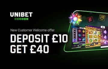 Unibet bonus deposit £10 get £40
